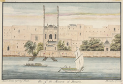 View of the ghats and Aurangzeb's Mosque, Benares (U.P.). 17 December 1819